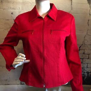 Carlisle Red Wool Blazer Jacket lined sz 10